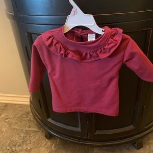 Carters warm ruffle shirt